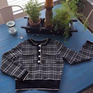 ZARA TRF NWOT Tweed lightweight top
